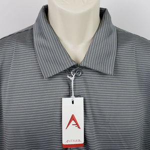 Antigua Desert Dry Quest Golf Polo XL Steel/White